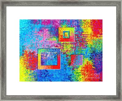 Portals Of Color Framed Print by Jeremy Aiyadurai