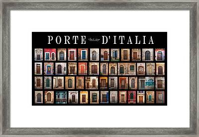Porte D'italia Framed Print