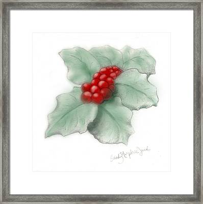 Portland Holly Framed Print