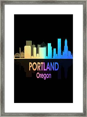 Portland Or 5 Vertical Framed Print by Angelina Vick