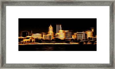 Framed Print featuring the photograph Portland Oregon Skyline  by Aaron Berg