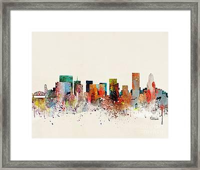 Portland Skyline Framed Print by Bri Buckley