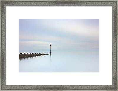 Framed Print featuring the photograph Portobello Seascape by Grant Glendinning