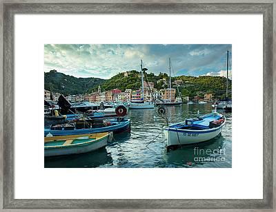 Portofino Evening Framed Print by Brian Jannsen