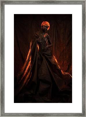 Portrait Of A Beautiful Woman With Body Painting Framed Print by Evgeniia Litovchenko