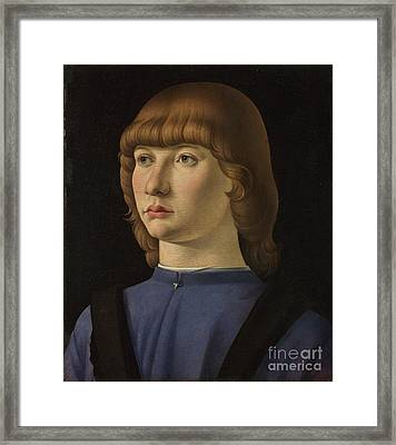 Portrait Of A Boy Framed Print by Celestial Images