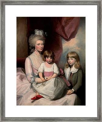 Portrait Of A Family Framed Print by Gilbert Stuart