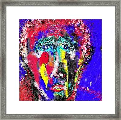 Portrait Of A Homeless Man Framed Print