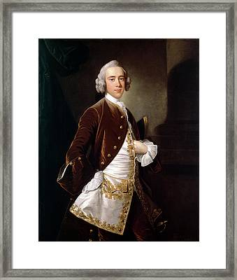 Portrait Of A Man Framed Print by Thomas Hudson
