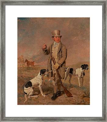 Portrait Of A Sportsman, Possibly Richard Prince Framed Print by Benjamin Marshall