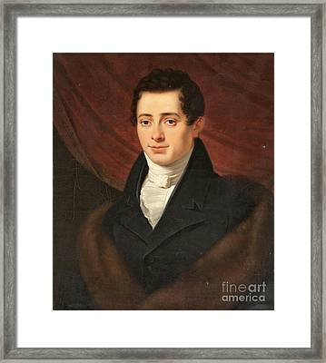 Portrait Of A Young Man  Framed Print