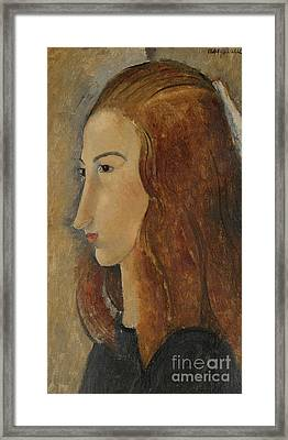Portrait Of A Young Woman  Framed Print by Amedeo Modigliani