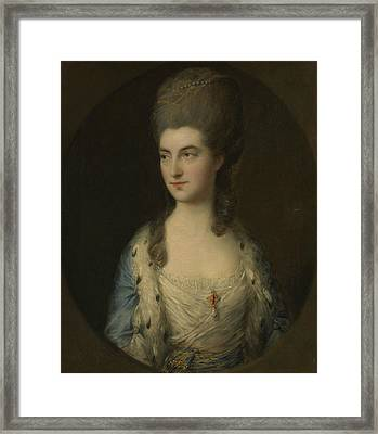 Portrait Of A Young Woman, Called Miss Sparrow Framed Print by Thomas Gainsborough