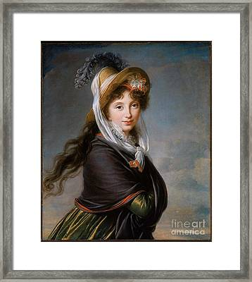 Portrait Of A Young Woman Framed Print by MotionAge Designs