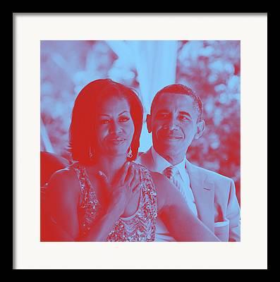 Barack And Michelle Obama Framed Prints
