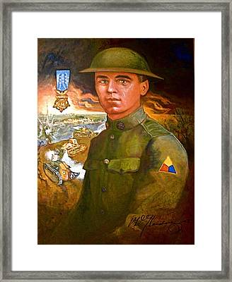 Portrait Of Corporal Roberts Framed Print by Dean Gleisberg