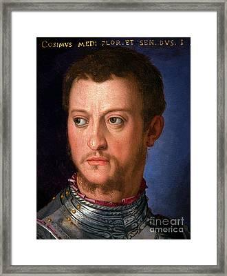 Portrait Of Cosimo I De' Medici, By Agnolo Bronzino, Circa 1560, Framed Print