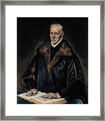Portrait Of Dr. Francisco De Pisa Framed Print