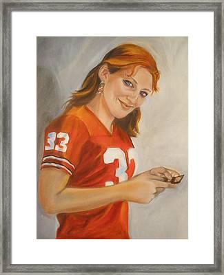 Portrait Of Ellie Framed Print by Kaytee Esser