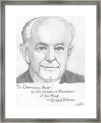 Portrait Of Ernest Holmes With Quotation Framed Print