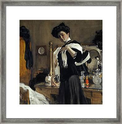 Portrait Of Henriette Girshman Framed Print