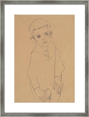 Portrait Of Herbert Rainer Framed Print