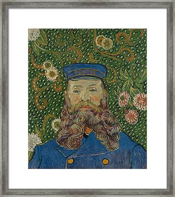 Portrait Of Joseph Roulin, 1889 Framed Print by Vincent Van Gogh