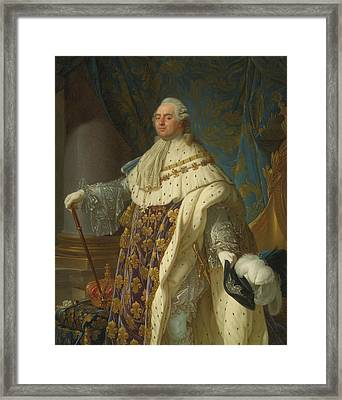 Portrait Of King Louis Framed Print by MotionAge Designs