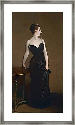 Portrait Of Madame Gautreau Framed Print by John Singer Sargent