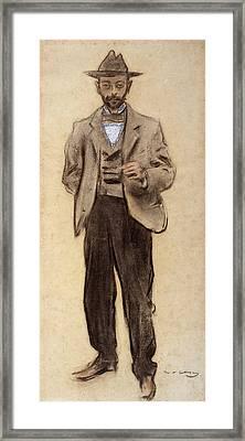 Portrait Of Manolo Hugue Framed Print