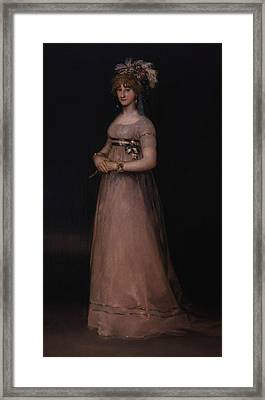 Portrait Of Maria Luisa De Borbon Y Vallabriga Framed Print by Francisco Goya