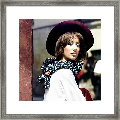 Portrait Of Marisa Berenson Framed Print by Henry Clarke