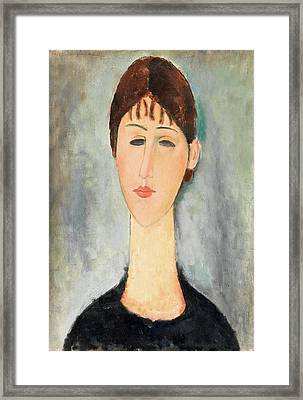 Portrait Of Mme Zborowska Framed Print by Amedeo Modigliani