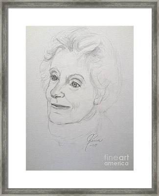 Portrait Of Mother Framed Print