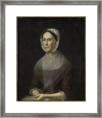 Portrait Of Mrs Framed Print
