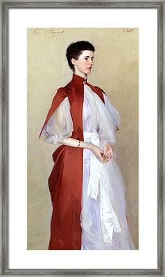Portrait Of Mrs Robert Harrison Framed Print by John Singer Sargent