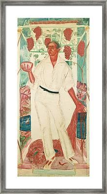 Portrait Of Roberto Montenegro Framed Print by Alexander Evgenievich