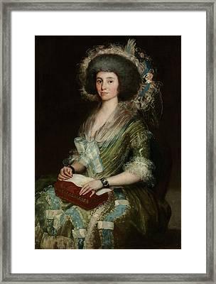 Portrait Of Senora Cean Bermudez Framed Print by Francisco Goya