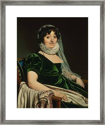 Portrait Of The Countess Of Tournon Framed Print by Jean-Auguste-Dominique Ingres