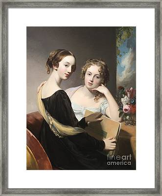 Portrait Of The Misses Mary And Emily Mceuen Framed Print