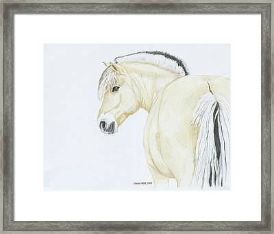Portrait Of Tira Framed Print by Laurie With