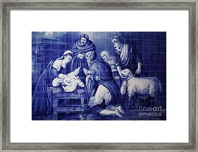 Portuguese Azulejo Tiles Framed Print by Gaspar Avila