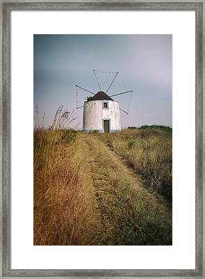 Framed Print featuring the photograph Portuguese Windmill by Carlos Caetano