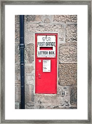 Post Box Framed Print by Tom Gowanlock