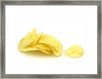 Potato Chips Framed Print by Blink Images