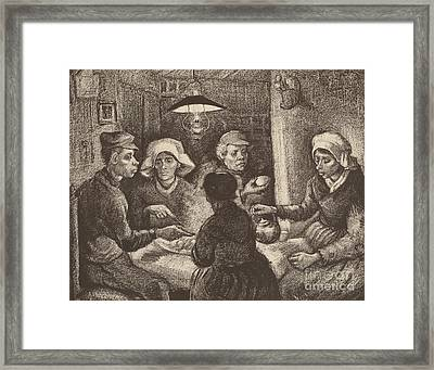 Potato Eaters, 1885 Framed Print by Vincent Van Gogh