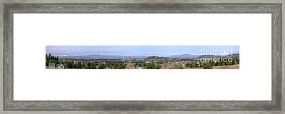 Powell Butte Park Panorama In Portland Oregon. Framed Print by Gino Rigucci