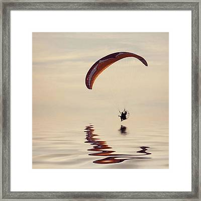 Powered Paraglider Framed Print
