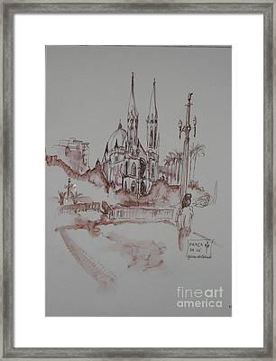 Praca Da Se Cathedral Framed Print by James McCormack
