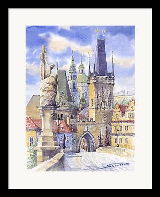 Czech Republic Framed Prints